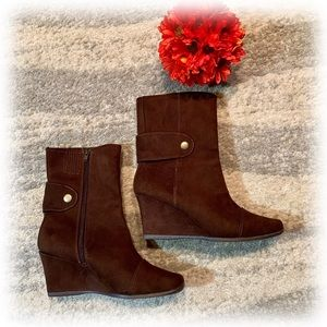 Predictions Suede Wedge Boots